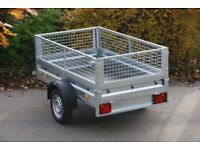 Box trailer with mesh sides 6x4 750kg single axle