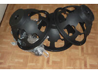 """3 x Easy fill hanging baskets 14"""" Black - New"""