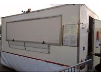 14ft Catering Trailer Burger Van, ready to work including gas generator