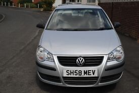 VOLKSWAGEN POLO E 60 3 DOOR HATCH LATE 2008 LOW MILEAGE ONLY £2195