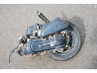 Honda SFX moped 50cc 2-stroke engine, exhaust, drive box, suspension and rear wheel.