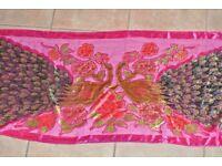 Vibrant peacock scarf