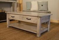 Reclaimed Solid Wood Coffee Table with Drawer $645 By LIKEN.