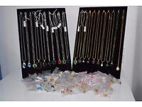 Necklaces, pendants, semi precious gems
