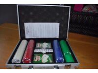 Poker set in carry case.