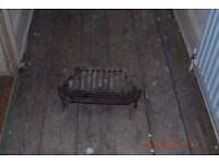 Real fire cast iron basket