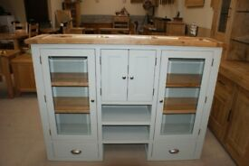 Vancouver Expressions Painted French Grey Hutch/Dresser Top. Besp-Oak