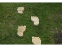 stepping stones feet shape used but clean