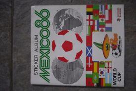 Mexico 86 World Cup Panini Sticker Album - Complete.