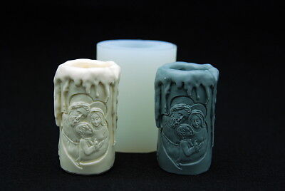 St.Family candle, Silicone Mold Chocolate Polymer Clay Jewelry Soap Wax Resin
