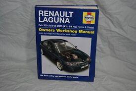 Haynes workshop manual Renault Laguna 2 inc turbo diesel 2001 - 2005