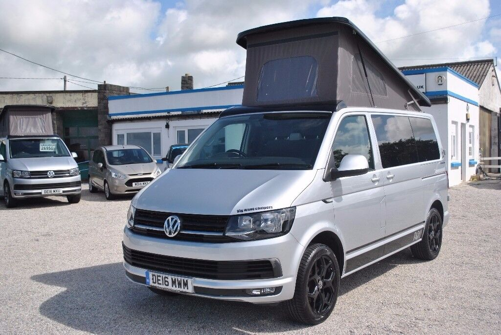 2016 volkswagen vw transporter t6 highline camper campervan brand new conversion in bude. Black Bedroom Furniture Sets. Home Design Ideas