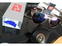 RAYBANS BLUE POLARISED AVIATOR SUNGLASSES COLLECTION + PAYPAL WELCOME wardrobe