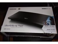 Samsung Ultra HD Blu-Ray Player UBD-K8500 With 2 unopened 4k films, Martian and Inferno.