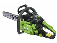 """Handy THPCS16 38cc 16"""" Petrol Chainsaw Green / Red with WARRANTY (RRP £120!)"""