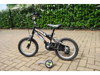 "Kids Black bike, Bicycle Ben 10 14"" with Stabilisers"