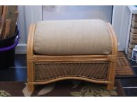 LARGE COMFY CANE STOOL WITH WASHABLE COVER, EXCELLENT CONDITION, CAN DELIVER