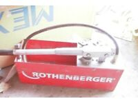 Rothberger pressure tester for plumbing and heating