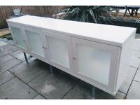Cupboard sideboard unit glass TV stand storage ikea