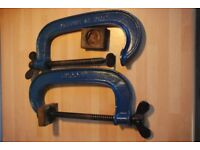 Immaculate pair of vintage Record number 8 G-clamps
