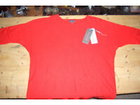 Phase Eight soft red linen top