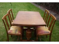 1950'S TABLE AND 4 CHAIRS