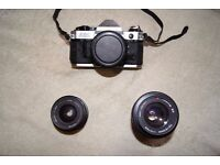 For the Camera Enthusiast - Canon AE1 Program Camera with lenses