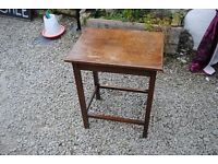 Small wooden antique side table