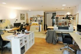 Bright spacious office on the Hoxton/Islington borders, close to parks, shops and cafés.