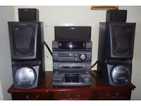 Sony hifi stereo system with surround sound and sub woofers