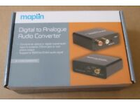 Digital to analogue audio converter