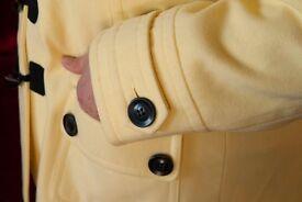 Duffle Coat - Lightweight, Lemon - Like New