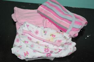 3pk Swaddle Sacks Pink Prints. Two NEW one new with smudge