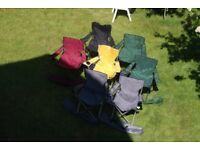 £5 each: camping / outdoor folding chairs with bags. All in good condition
