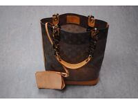 Louis Vuitton Monogram Vinyl Amber Sac Cabas Tote Bag MM and Purse £1300