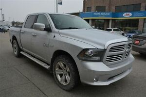 2014 Dodge Ram 1500 SPORT CREW CAB 4X4, 5.7 HEMI, NAV, LEATHER,