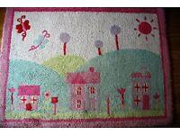 Bedeck pink rug for Girls bedroom