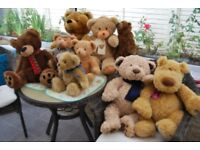 large number of teddy bears donated to us for our charity all in excellent condition