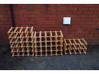 Wine Racks 30, 25 and 12 bottles. £5.00 each