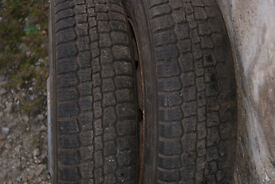 Pair wheels and tyres from Rover Metro