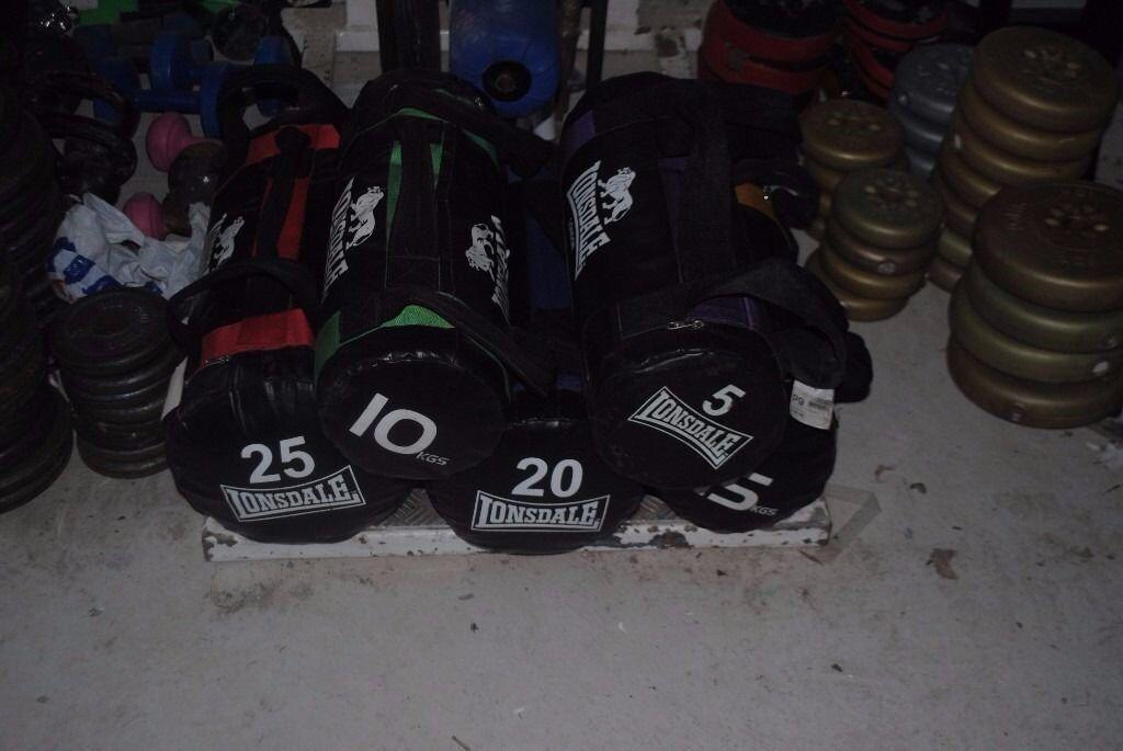 Londsdale Power Bag Functional Sand Bag Set - 5kg -25kg Weights Gym