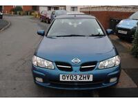 NISSAN ALMERA SPORT 1.8 PETROL LOW MILES 2003 3 DOOR HATCH FSH MOT RARE CAR £995