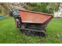 Honda high tip skip loader Track barrow/dumper