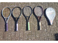 Tennis rackets, total of four