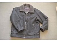 Men's Marlboro Classics Jacket - antique faux leather with removable shearling collar