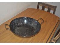 deep paella pan 36cm-7L enamelled steel sarten/Spanish