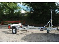 DINGHY TRAILER WITH DOLLY BRAND NEW (gp14, Laser, Wayfairer)