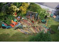 Garden hand tools £5 or under. Other gardening items separately priced