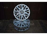 "VW GOLF MK5/6 STEEL WHEELS X 8 + wheel trims + 2x 18"" tyres."