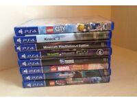8 PS4 Games [Includes Minecraft, Lego City Undercover, Knack 2, Plants Vs Zombies 2, Rocket League]